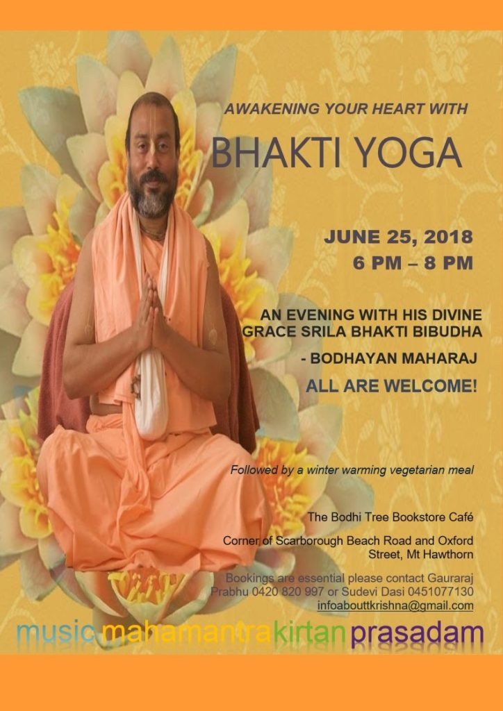 Bodhi Tree Event - Bhakti Yoga Flyer Download