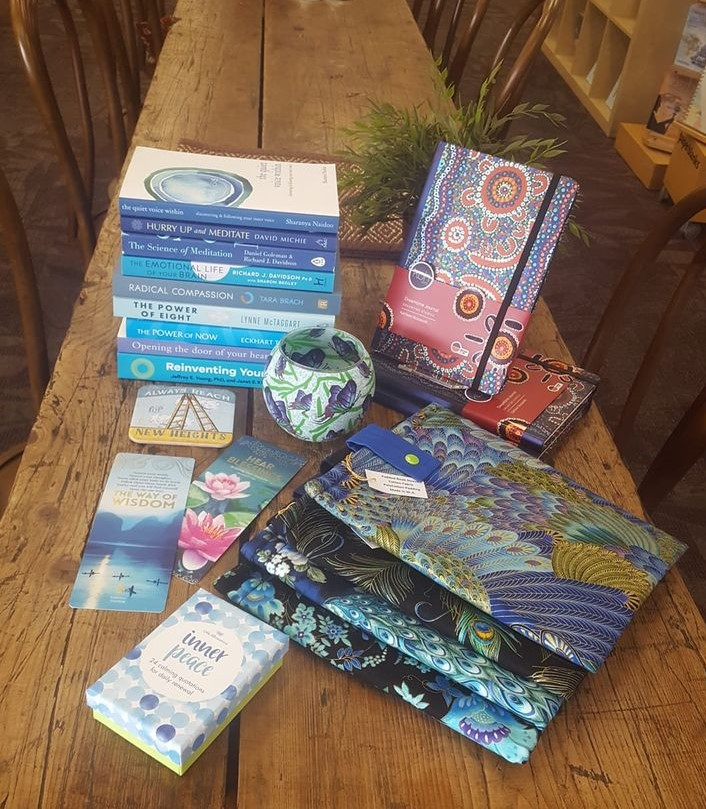 Book Sleeves and Journals available at the Bodhi Tree Bookstore Cafe